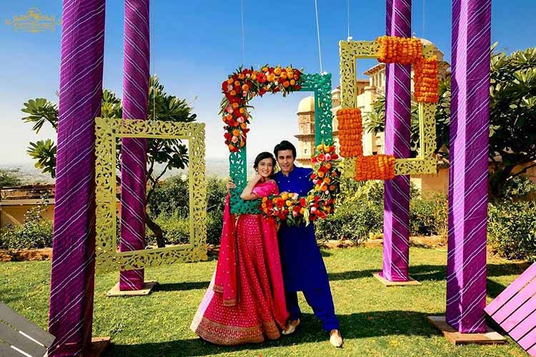 Gautam Rode and Pankhuri Awasthy look beautiful in this pic from their wedding function