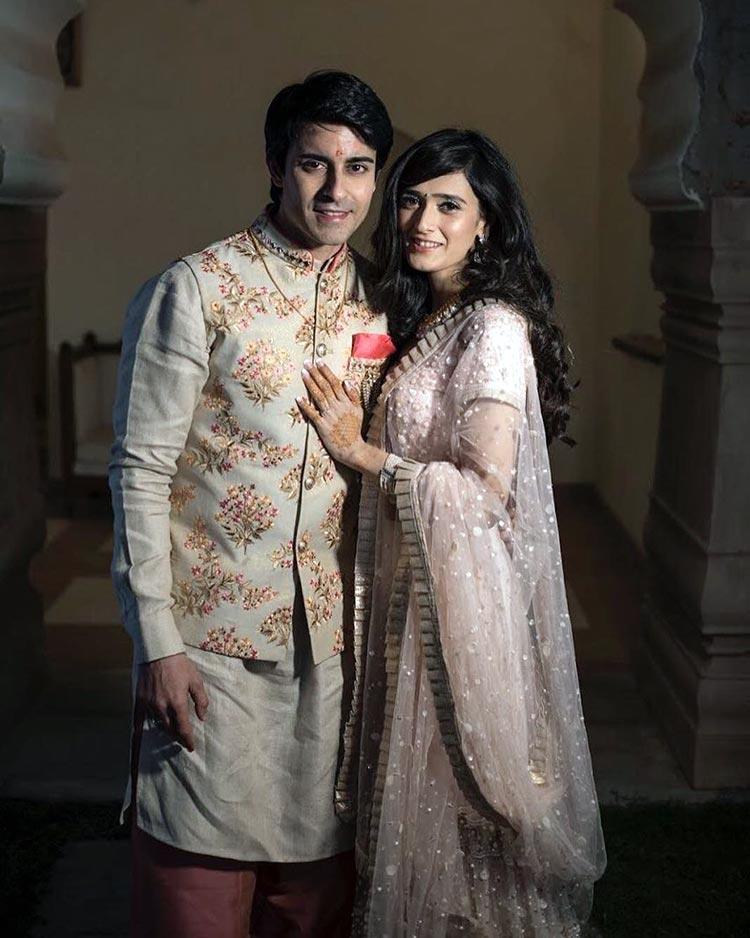 Gautam Rode and Pankhuri Awasthy on their Shagan ceremony