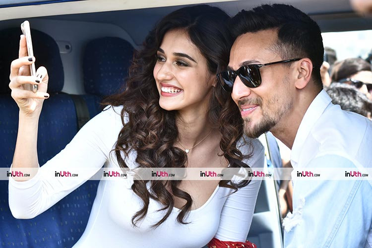 Disha Patani and Tiger Shroff at the trailer launch event of Baaghi 2