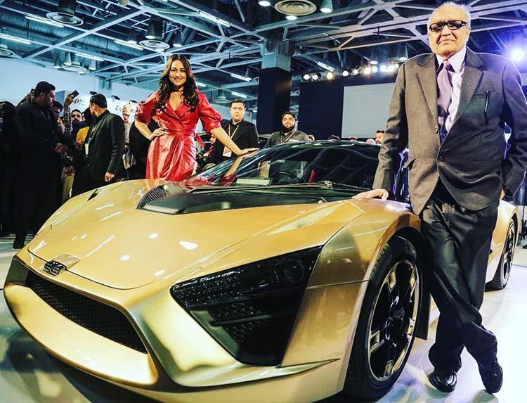 Sonakshi Sinha at Auto Expo 2018