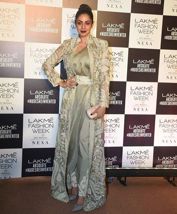 Sridevi Kapoor snapped at Lakme Fashion Week Summer Resort 2018 finale