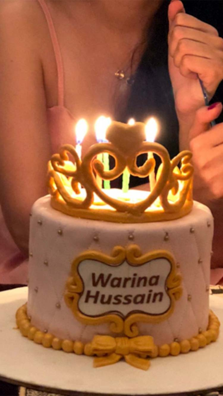 Warina Hussain's birthday cake is as cute as she
