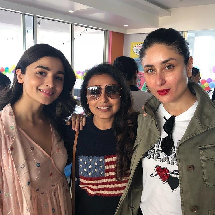 Alia Bhatt, Rani Mukerji, Kareena Kapoor at Yash and Roohi's birthday party