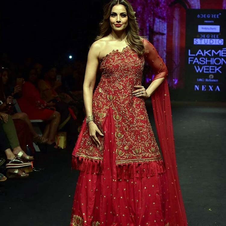 Bipasha Basu walking the Lakme Fashion Week 2018 ramp