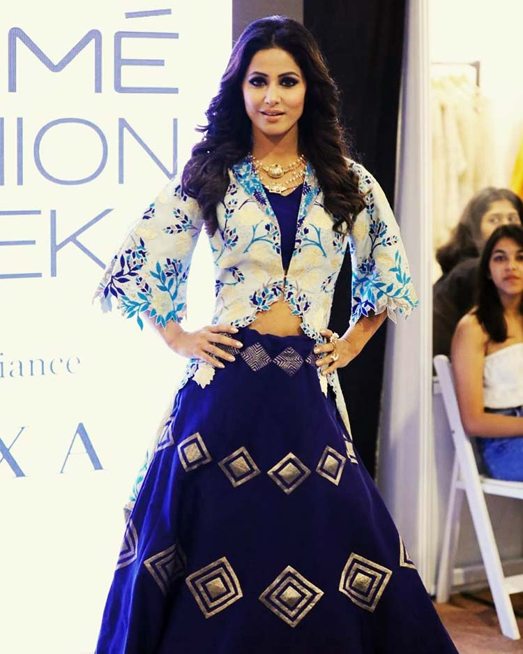 Hina Khan on the Lakme Fashion Week 2018 ramp