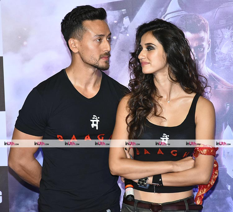 Tiger Shroff and Disha Patani launching the Baaghi 2 trailer