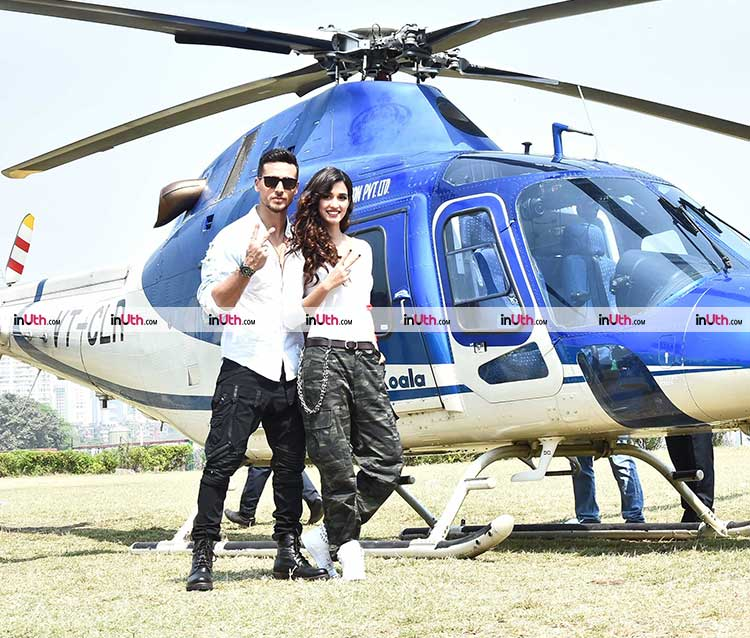 Tiger Shroff snapped with Baaghi 2 co-actor Disha Patani