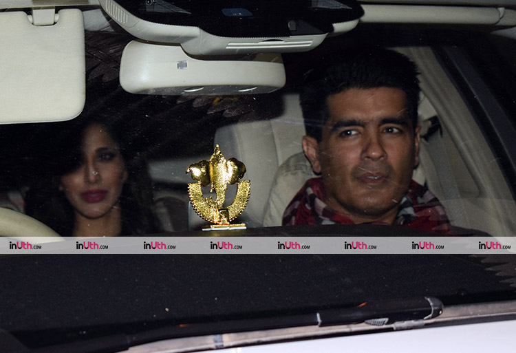 Manish Malhotra and Sophie Choudry at Karan Johar's Valentine's party