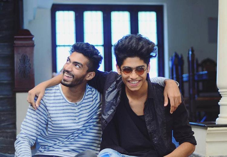 Oru Adaar Love actor Roshan Abdul Rahoof with a childhood friend