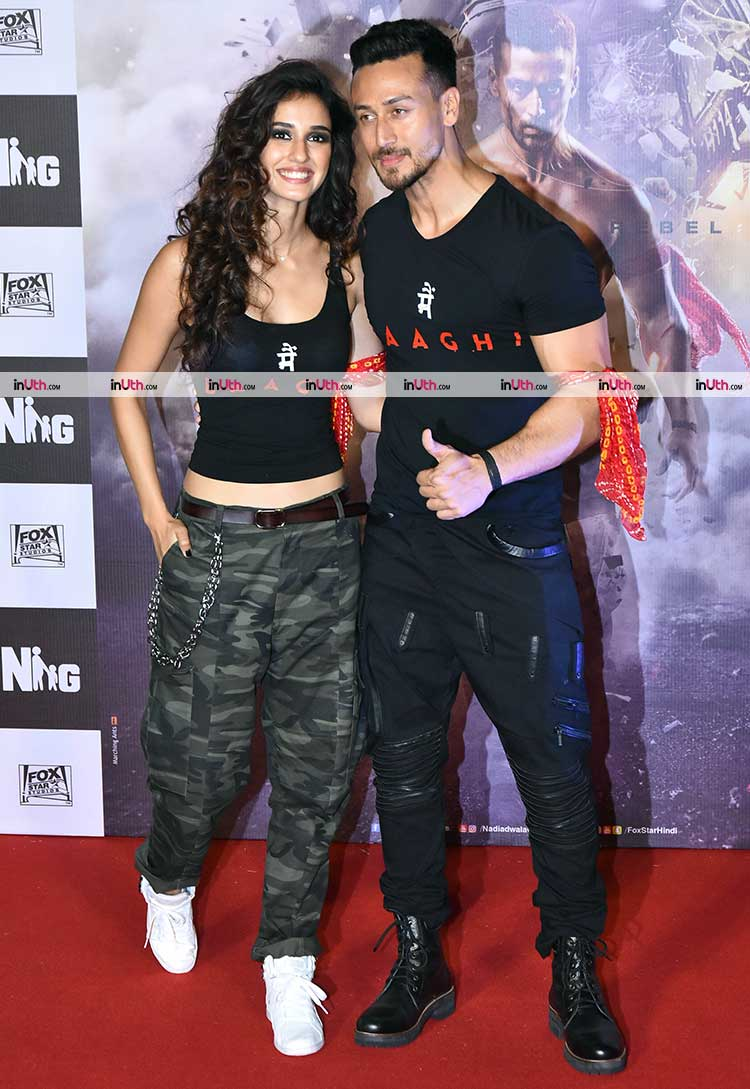 Tiger Shroff with Disha Patani at Baaghi 2 trailer launch