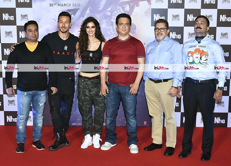 Baaghi 2 team at the trailer launch event