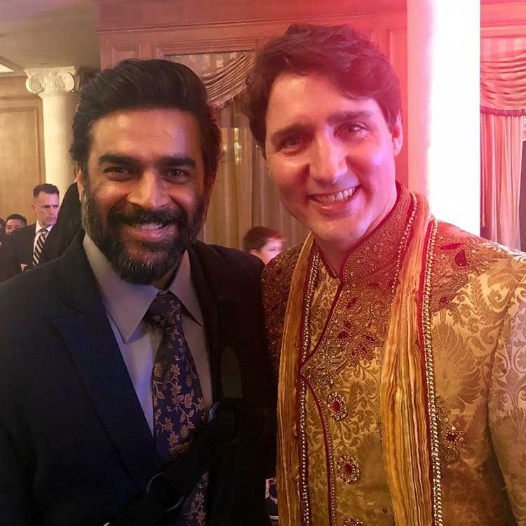 Justin Trudeau Prime Minister Of Canada Poses For A: Canadian Prime Minister Justin Trudeau Meets Bollywood Celebs