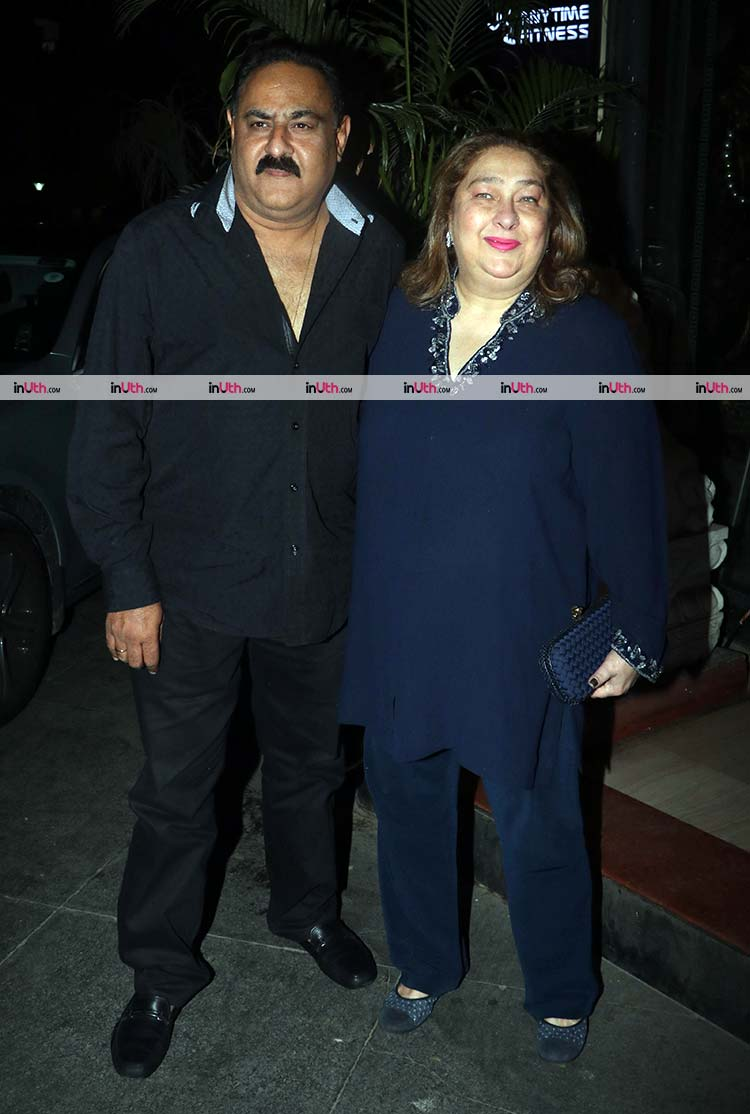 Reema Kapoor with husband Manoj Jain at Ranbir Kapoor birthday bash