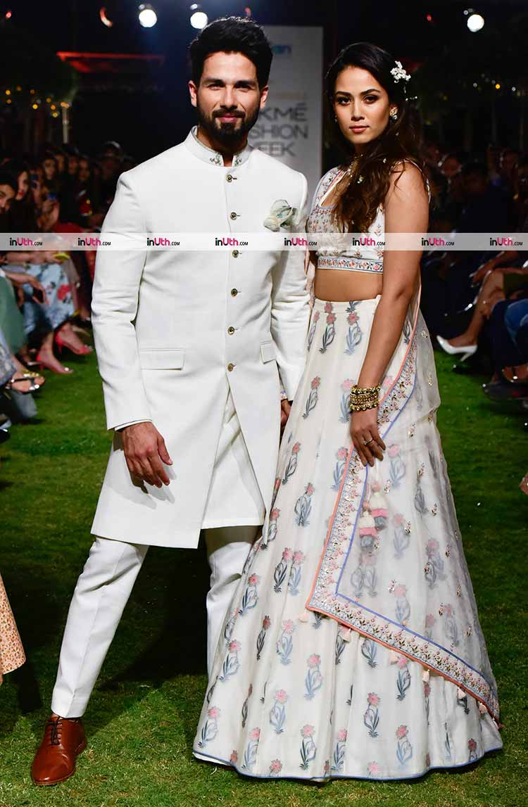 bde123db8b4 Shahid Kapoor with Mira Rajput on Lakme Fashion Week 2018 day 1