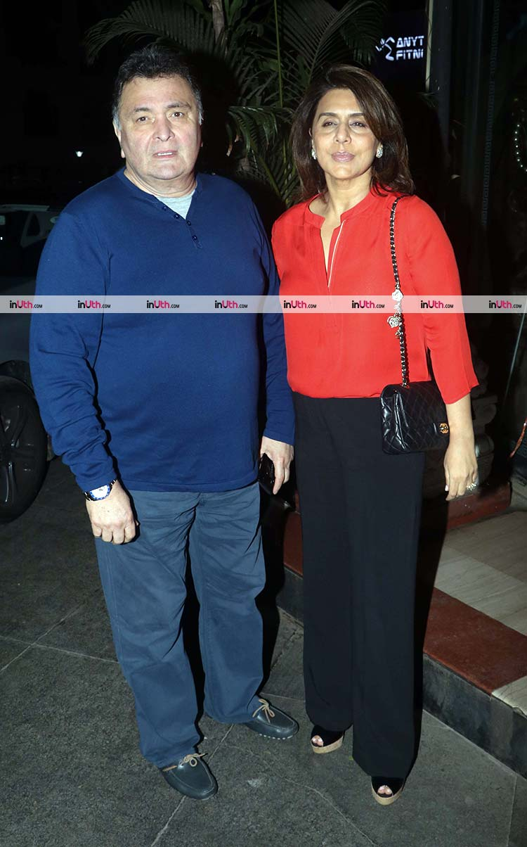 Rishi and Neetu Kapoor and Randhir's birthday party