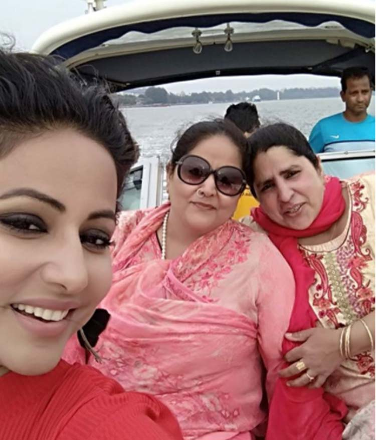 Hina Khan with her mother and aunt