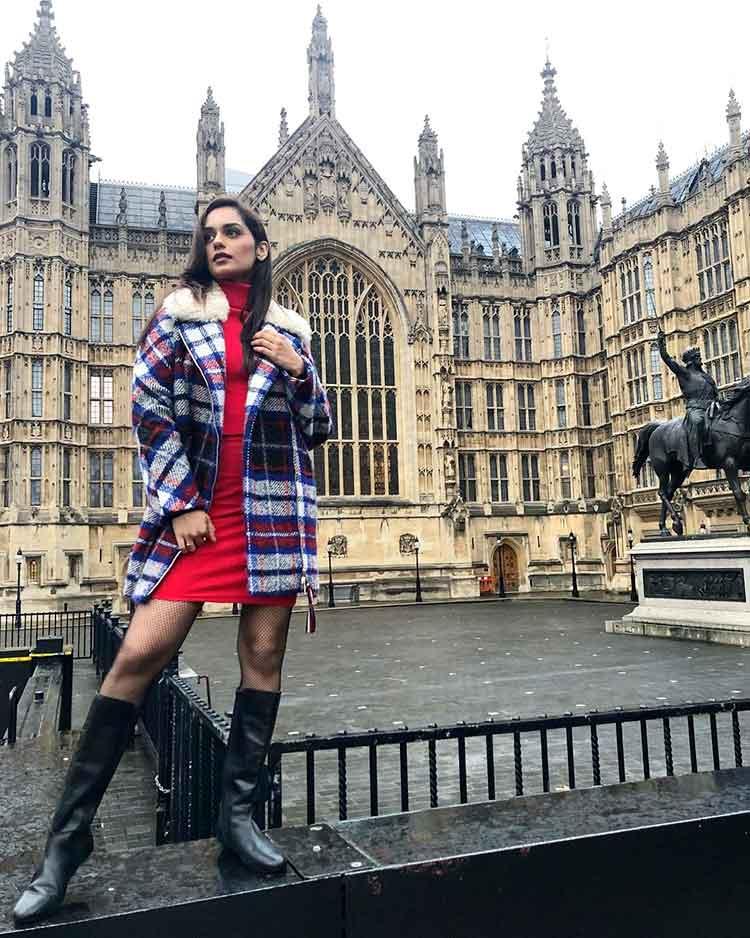 Manushi Chhillar in London