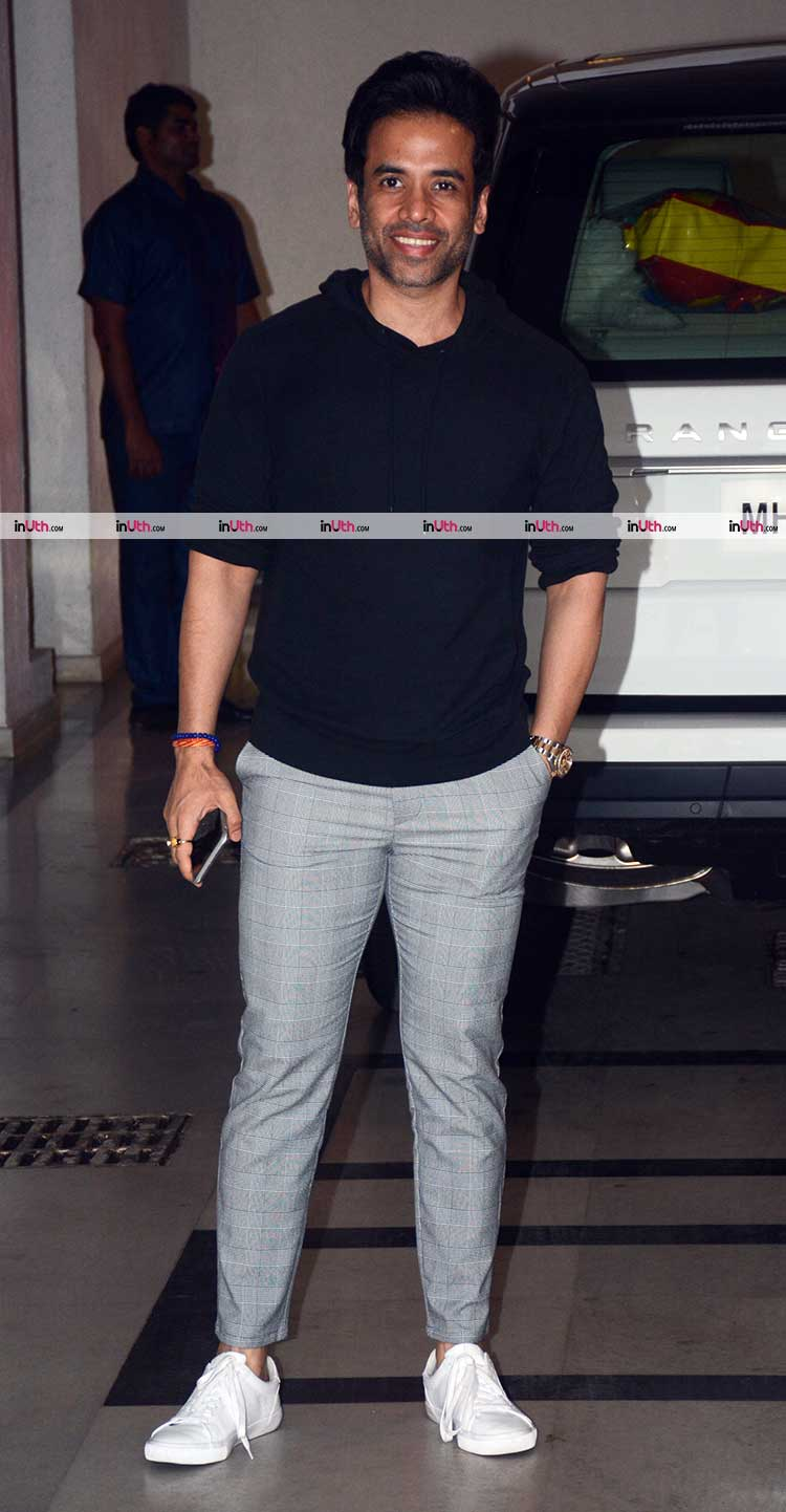 Tusshar Kapoor at Karan Johar's Valentine's party