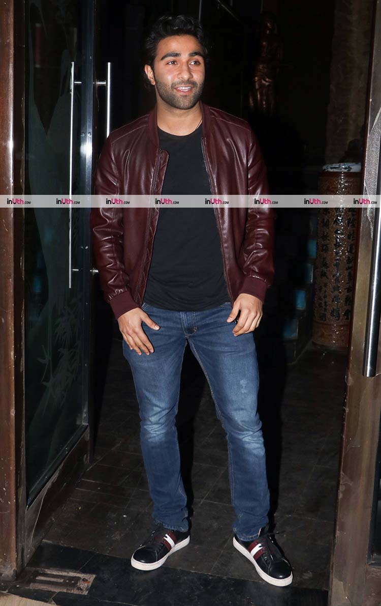 Aadar Jain at Randhir Kapoor's birthday party