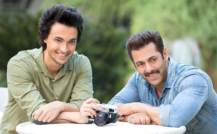 Aayush Sharma with Salman Khan