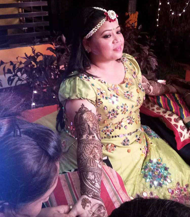 Bharti Singh at her Mehendi ceremony