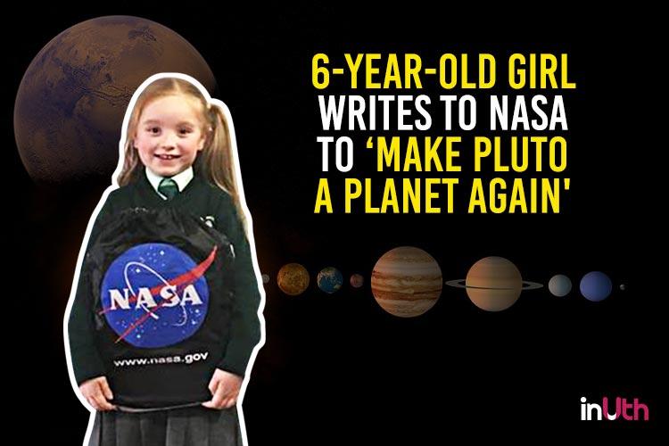 6-year-old girl writes to NASA to 'make Pluto a planet again'