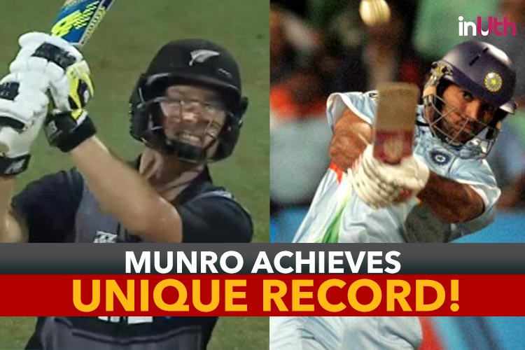 Watch: Colin Munro breaks Yuvraj Singh's 10-year-old record in T20Icricket!