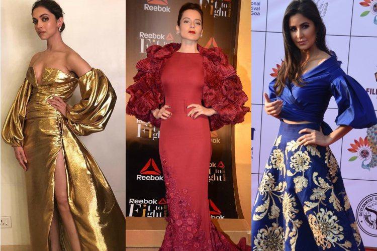 Deepika Padukone, Kangana Ranaut, Katrina Kaif donning balloon sleeves