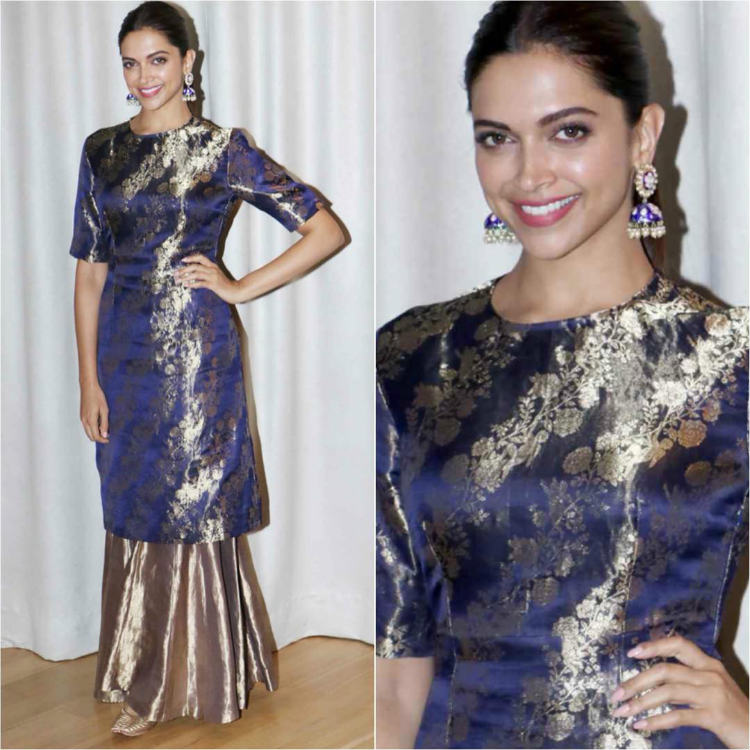 Deepika Padukone in a crew neck outfit