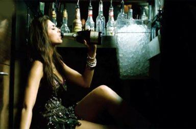 Deepika drinking