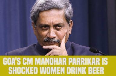 Goa CM Manohar Parrikar, Manohar Parrikar girls drinking beer, gender discrimination, drinking, alcohol
