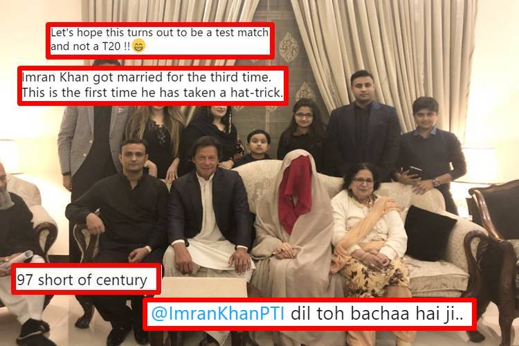 As Imran Khan marries for the 3rd time, Twitter shouts he is '97 short of century'