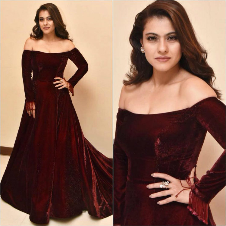 Kajol in a off-shoulder neck