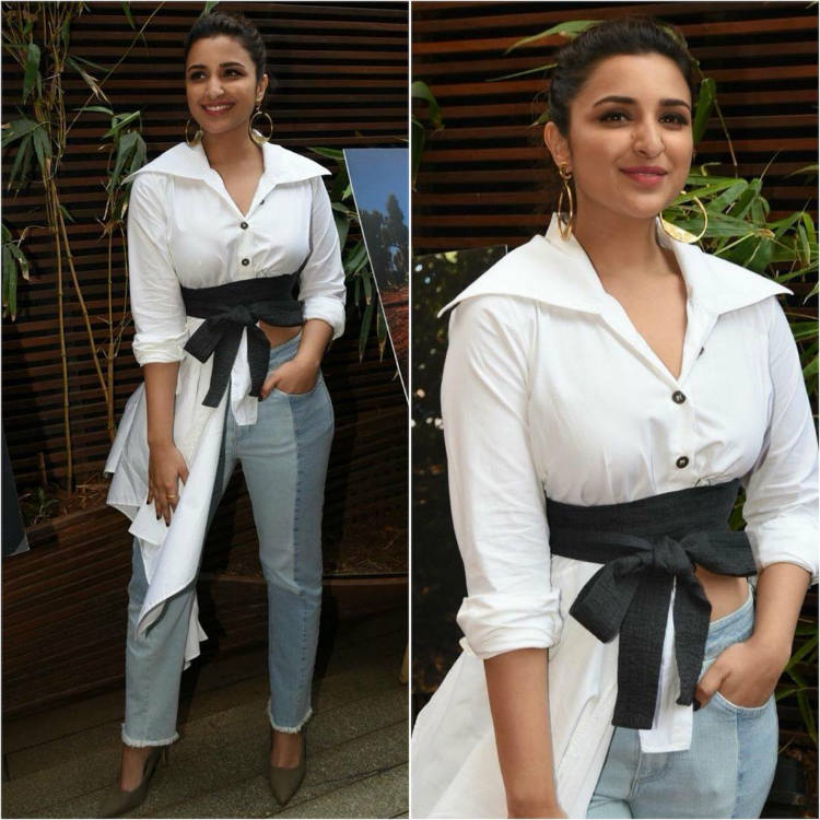 Parinneti Chopra in a button-up neck