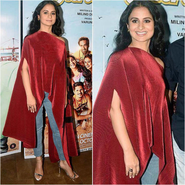 Rasika Dugal in an asymmetric outfit