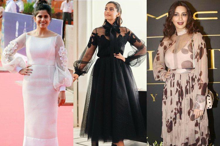 Sai Tamhankar, Sonam Kapoor, Sonali Bendre donning bishop sleeves