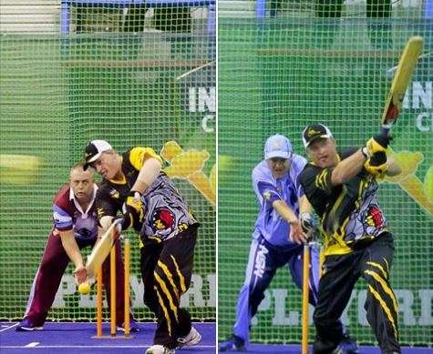 Brett Williams playing indoor cricket for West Australia/ Photo: Facebook