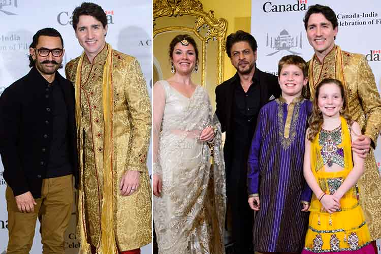 Shah Rukh, Aamir and other biggies of B-town meet Justin Trudeau