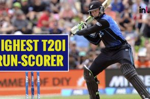 Martin Guptill, Highest run-scorer in T20Is, Most runs in T20I cricket, Martin Guptill T20I records, Brendon McCullum T20I runs, New Zealand vs Australia 5th T20I, Tri Nation T20I series