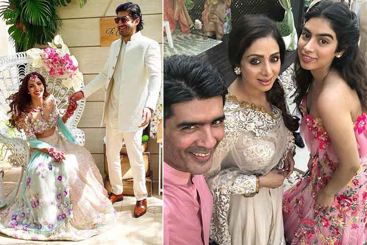 Sridevi, Rhea, Arjun and Khushi Kapoor at Mohit Marwah's wedding