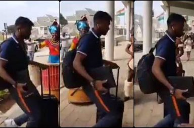 Hardik Pandya showcases dance moves on South African traditional drum ahead of 5th ODI
