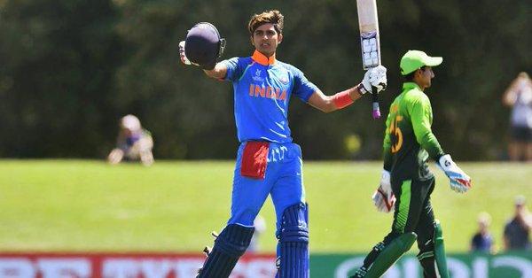 Shubhman Gill hit entury against Pakistan in U19 WC 2018 semi-final