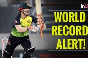 Highest T20I run chase, New Zealand vs Australia 5th T20I, Australia vs New Zealand 5th T20I, T20I tri nation series 2018, List of highest T20I runchases, Martin Guptill maiden T20I hundred, Ben Wheeler worst spell