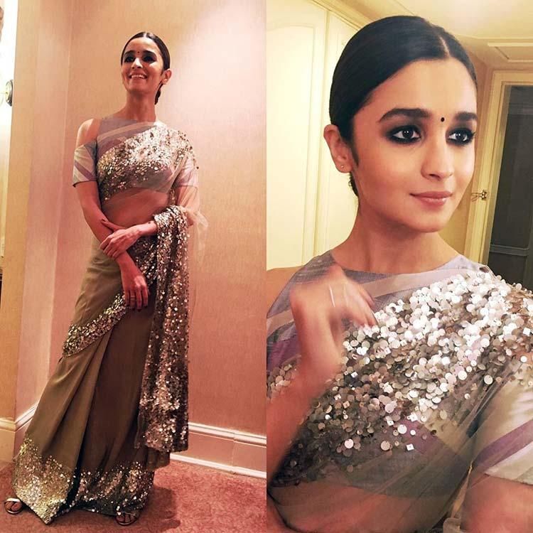 Alia Bhatt is looking magical in a saree goal