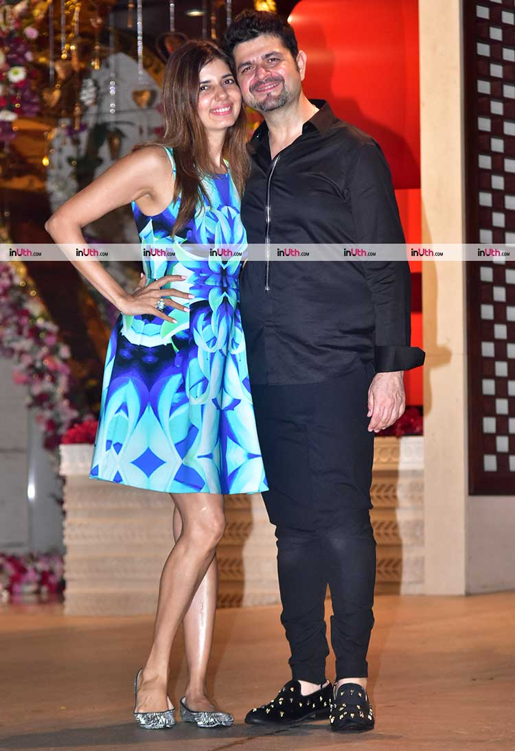 Dabboo and Manisha Ratnani at Akash Ambani, Shloka Mehta engagement party