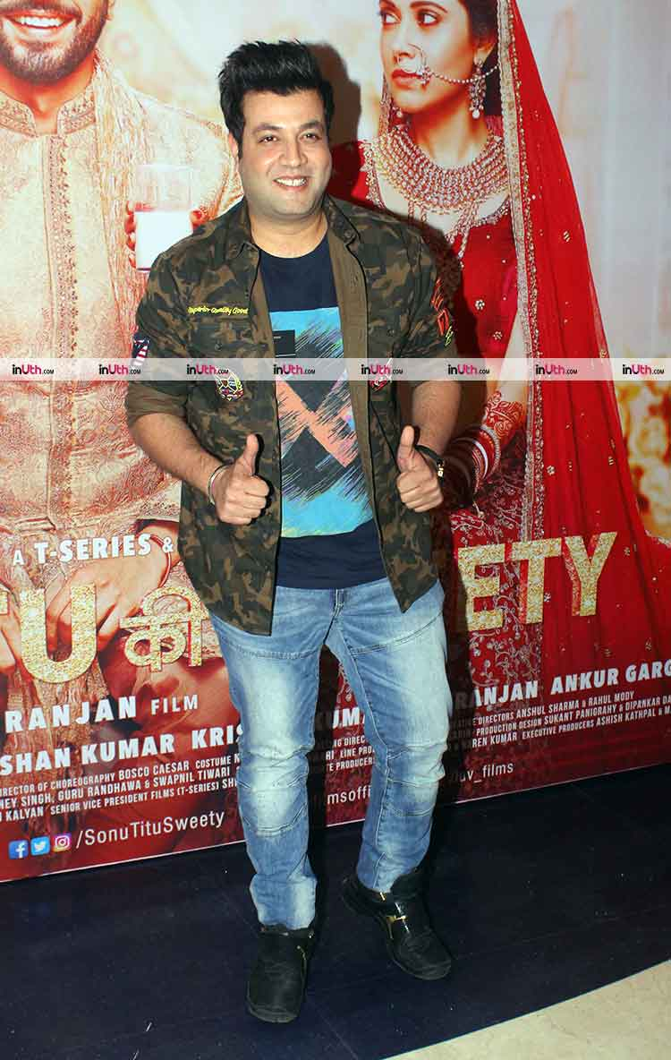 Varun Sharma at Sonu Ke Titu Ki Sweety success party