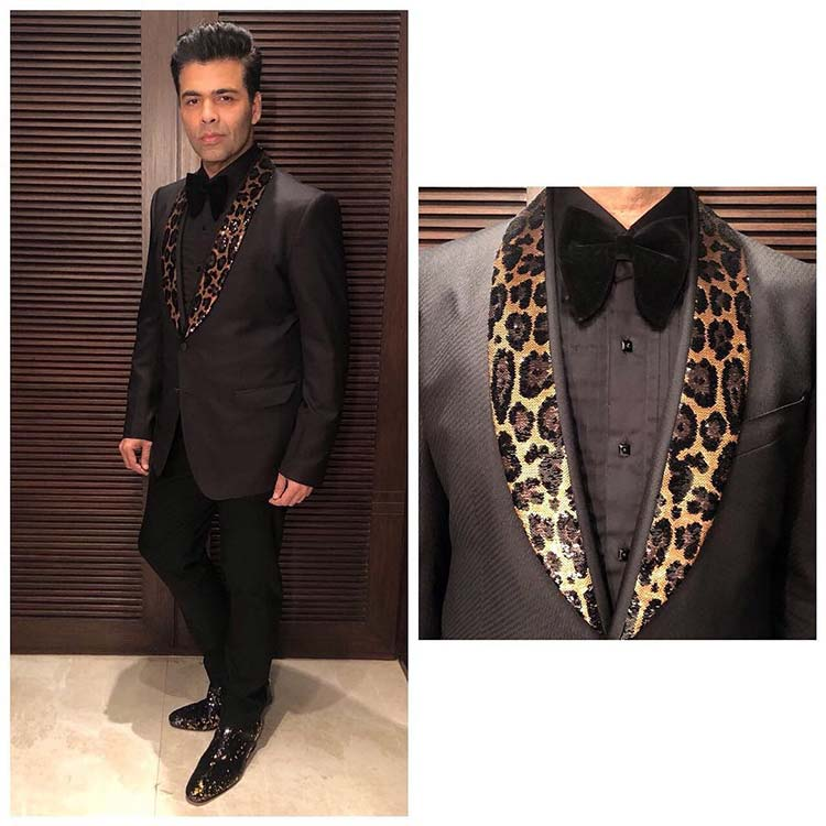 Karan Johar's look for Hello Hall of Fame 2018 awards