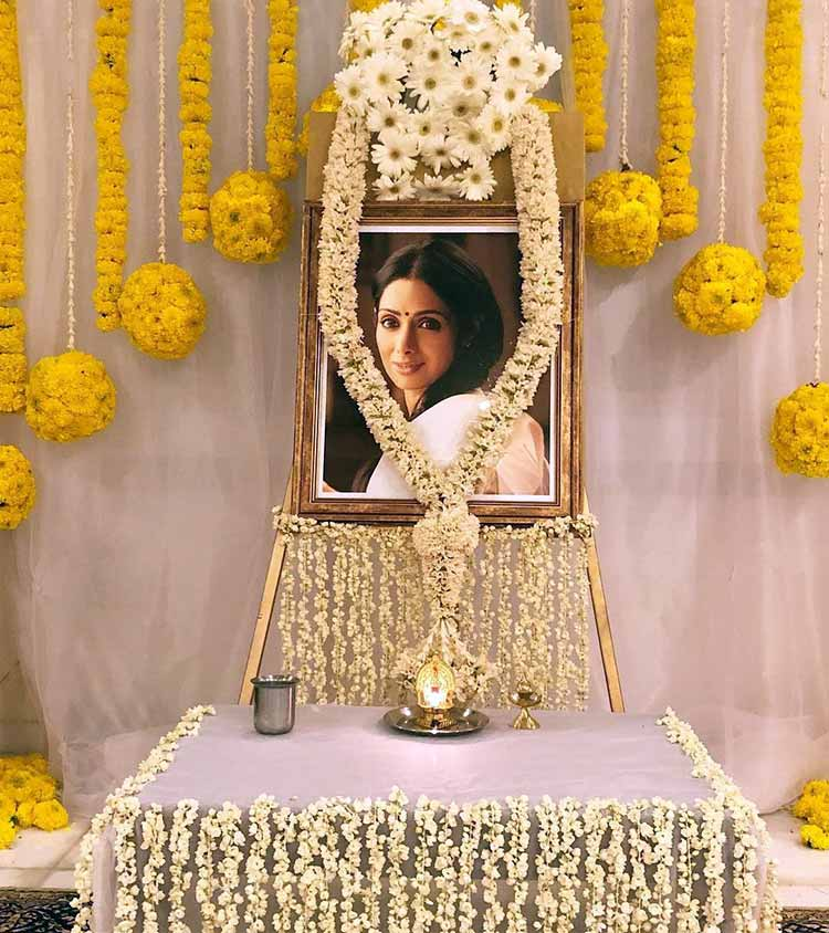 A prayer meet held for Sridevi in Chennai