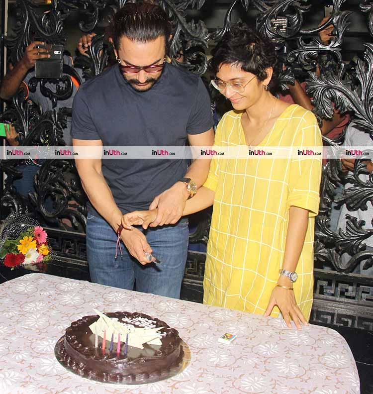Aamir Khan celebrates his birthday with wife in presence of the media