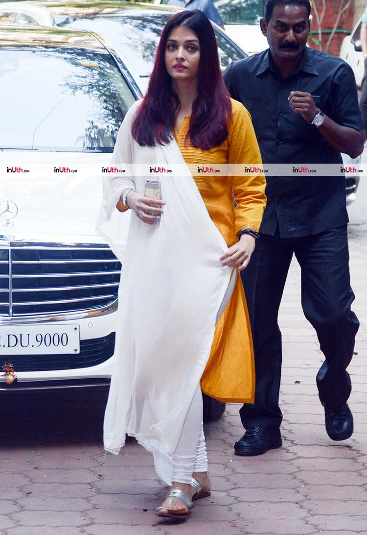 Aishwarya Rai Bachchan at veteran actress Shammi's prayer meet